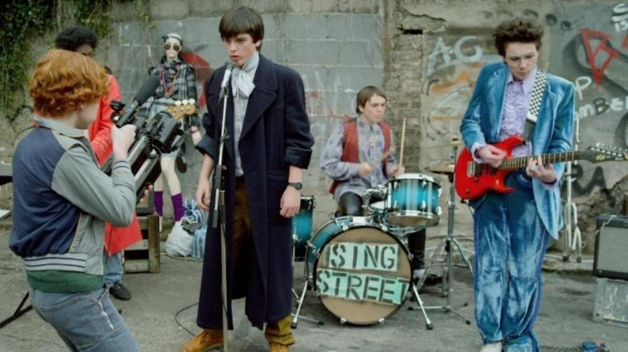 "The cast of ""Sing Street,"" which takes place at a boarding school in Dublin and was written and driected by John Carney, who also directed ""Once."" Photo courtesy The Weinstein Company"