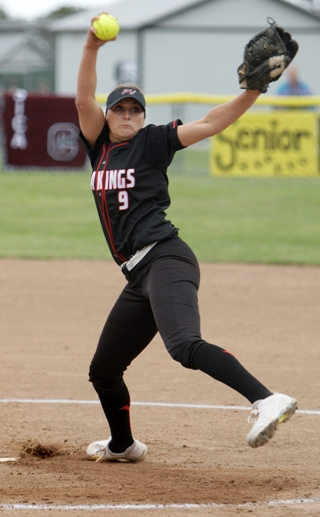 Palos Verdes high School senior Steffi Best had an All-CIF quality season while setting two school pitching records. Photo by Ray Vidal