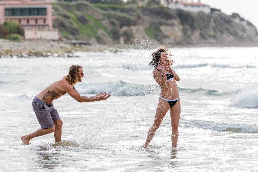 Bryan Mineo and Rebecca Soni came together while ocean swimming. Photo Shaun Sexton