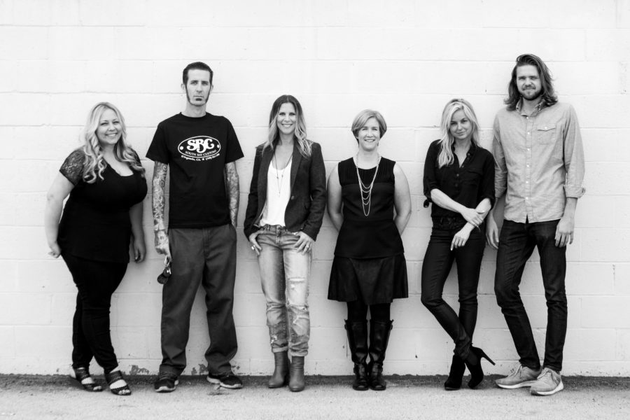 The committee behind the El Segundo Art Walk, from left to right: Michelle Guidi, Michael Schreiber, Holly Socrates, Josette Murphy, Dani Brubaker, and George Renfro. Photo by Tamara Muth-King