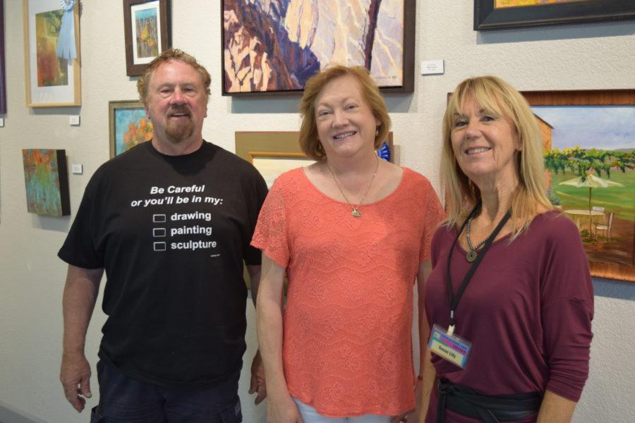 Destination: Art's David Wolfram, Margaret Lindsay, and Susan Lilly. Photo