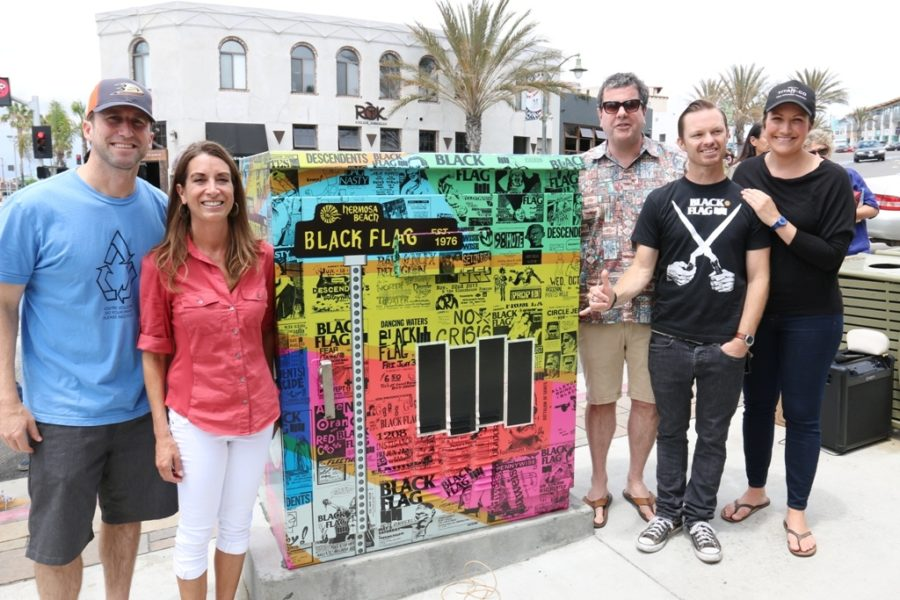 Hermosa Beach council members Jason and Carolyn Petty, city manager Tom Balkley, Jani Lange and coucilwoman Stacy Armato.