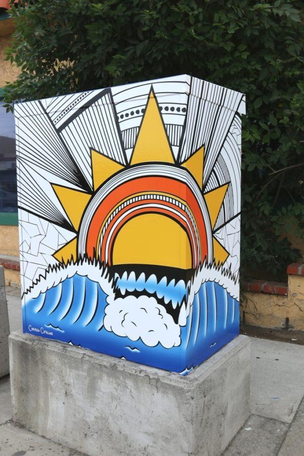 Carisa Catalina's art deco restatment of the Hermosa Beach city logo.