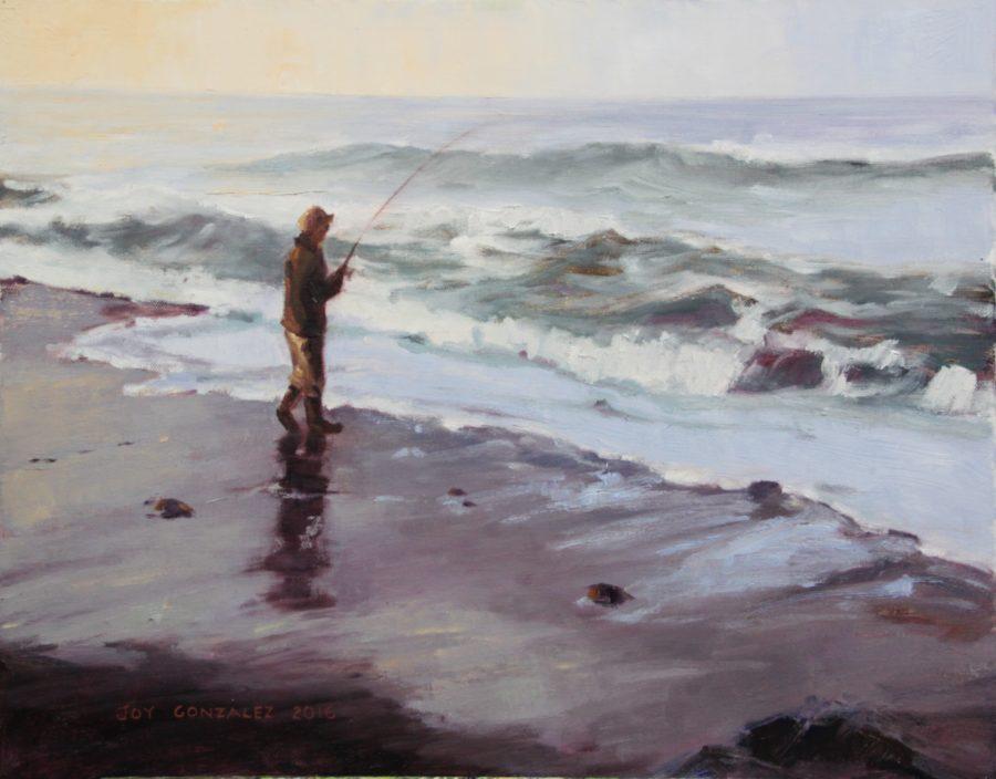 """Surf Fishing,"" by Joy Gonzalez, at Destination: Art"