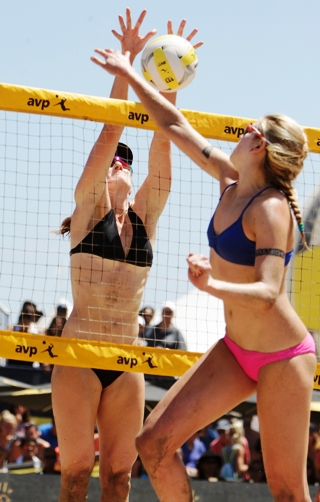 First-time winners celebrate on the sand