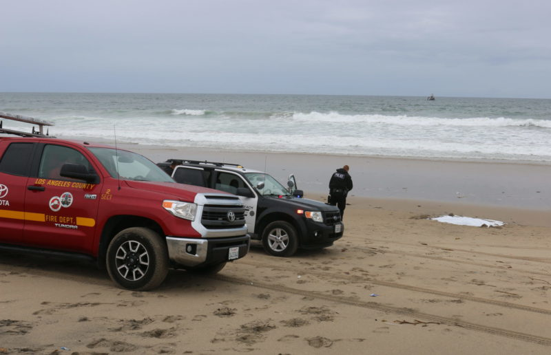 Hermosa woman found dead along beach amidst high surf