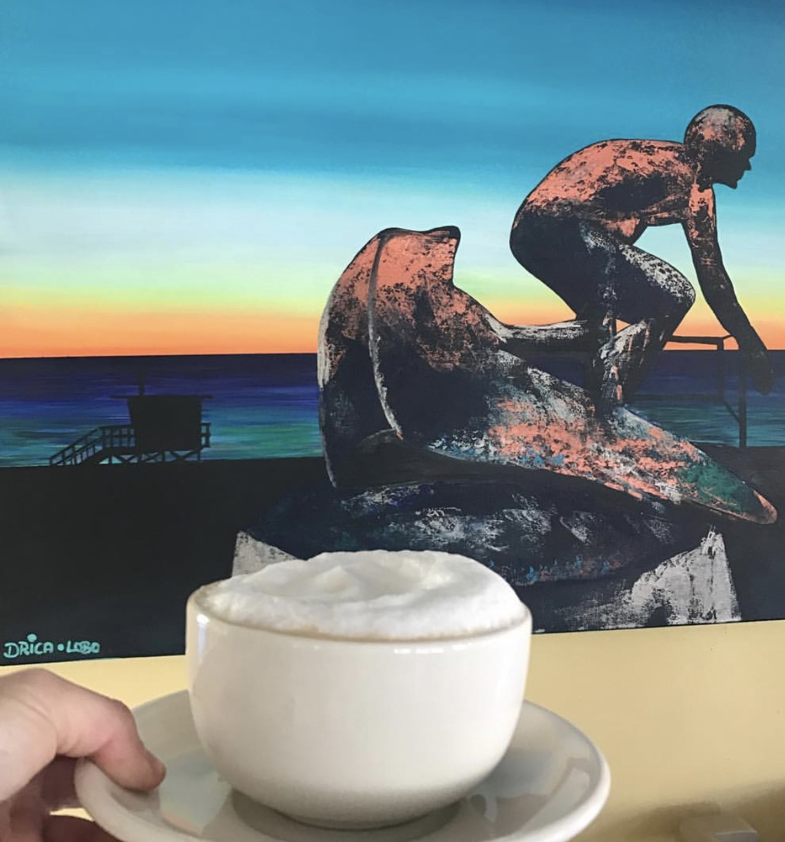 Coffee and art with Drica Lobo at Java Man in Hermosa Beach