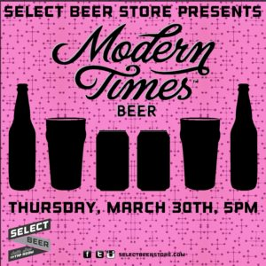 Select Beer Store Presents: Modern Times @ Select Beer Store | Redondo Beach | California | United States