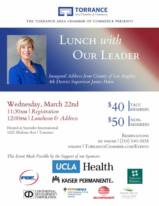 Lunch With Our Leader Easy Reader News