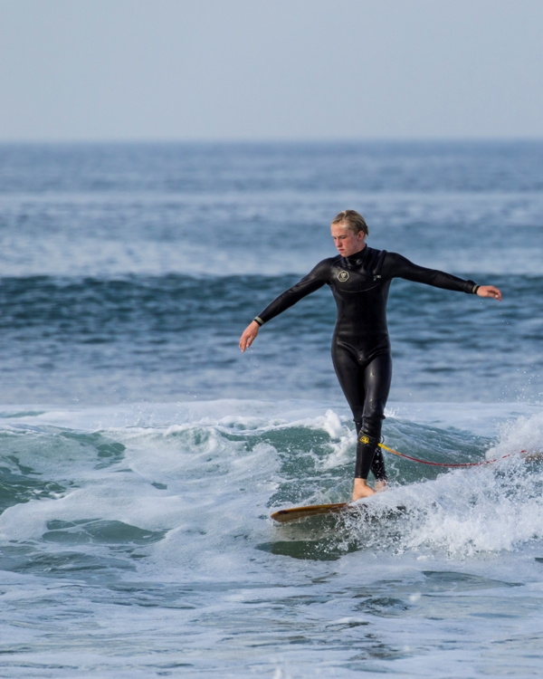Cash in the barrell: Cash Cherry gave up his Rubik's Cube for a surfboard