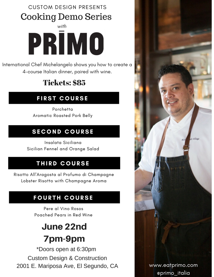 Cooking Demo Series With Primo Easy Reader News