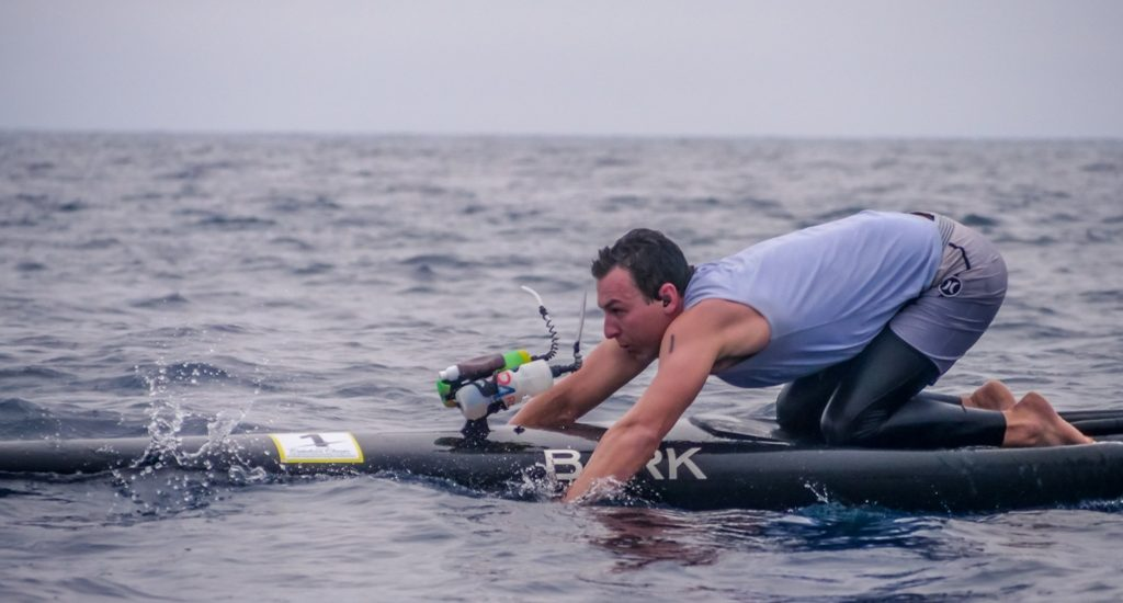 LA Lifeguards Max First, Katie Hazelrigg win Catalina Classic Paddleboard Race