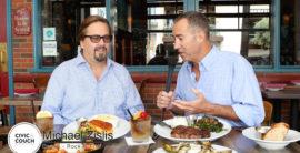 Steve and Brad Visit Michael Zislis at Rock N Fish