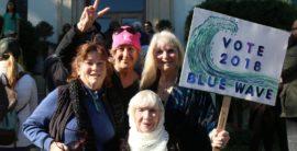 Beach activism – Women march in Redondo Beach