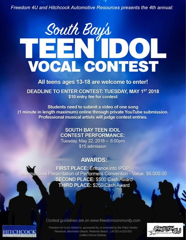 South Bay's Teen Idol Vocal Contest @ Freedom 4 U | Palos Verdes Estates | California | United States