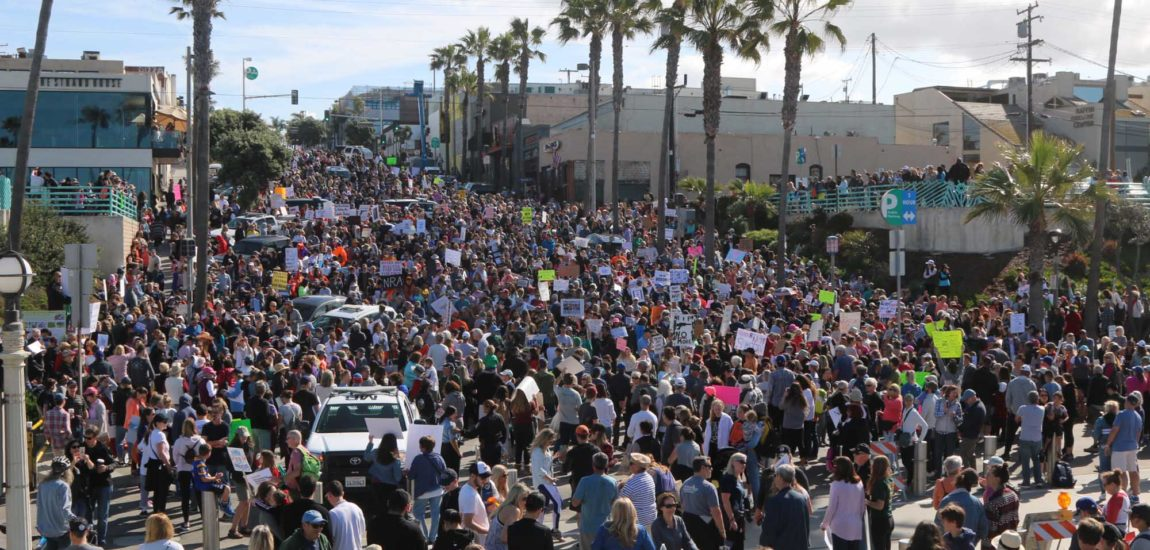 Thousands 'March for Our Lives' in Manhattan and Hermosa Beach