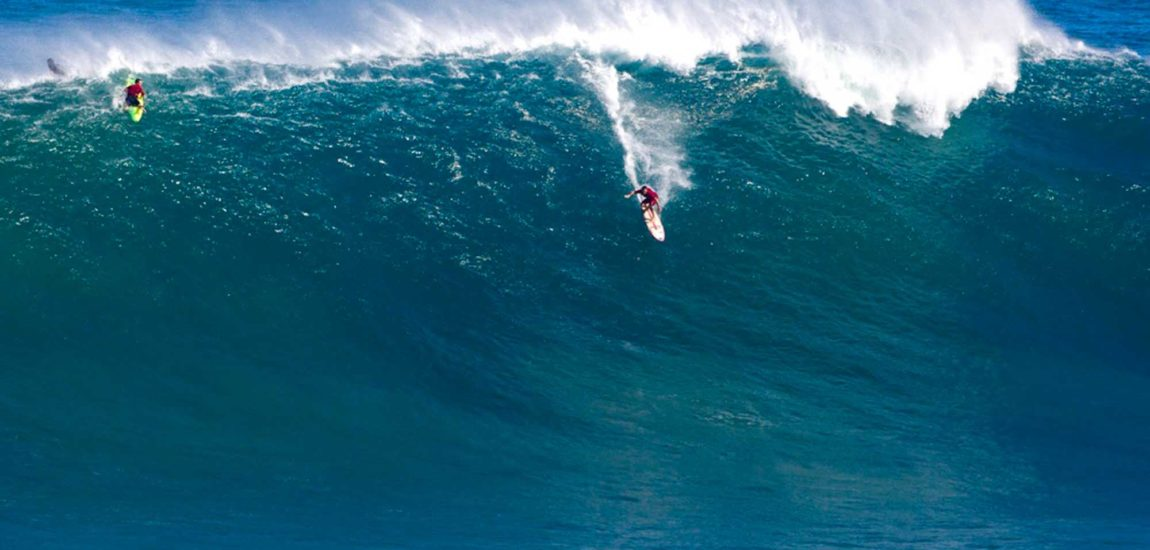 Hermosan Brent Broza captures winning wave  at Jaws for second time