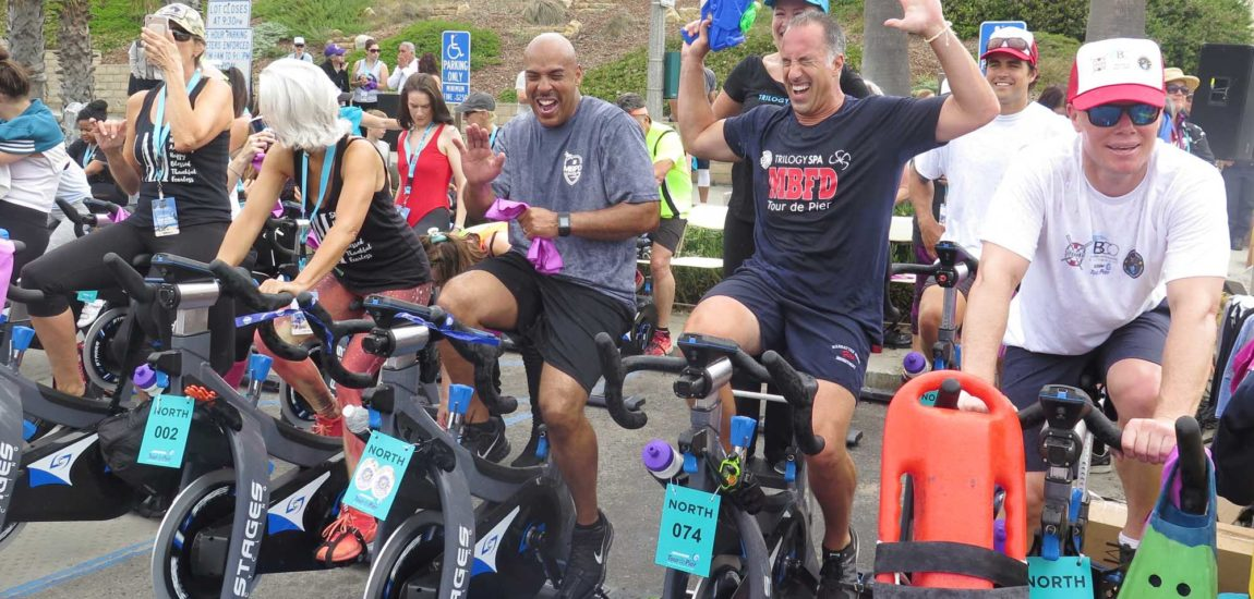 Tour de Pier, raises spirits, funds for cancer support and research