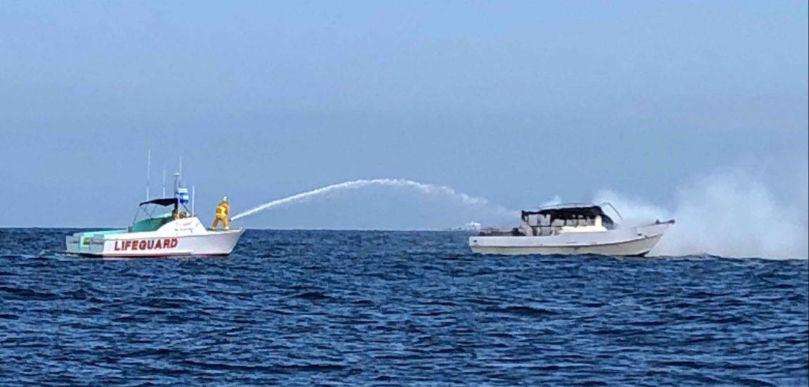 Boat catches fire off Palos Verdes coast