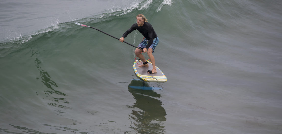 Foil Surfing Floats on in Manhattan Beach