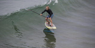 Foil Surfing Floats on in Manhattan Beach