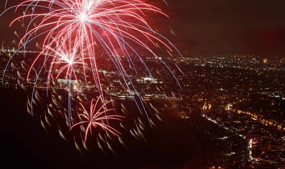 Fourth of July  RAT Beach fireworks in limbo