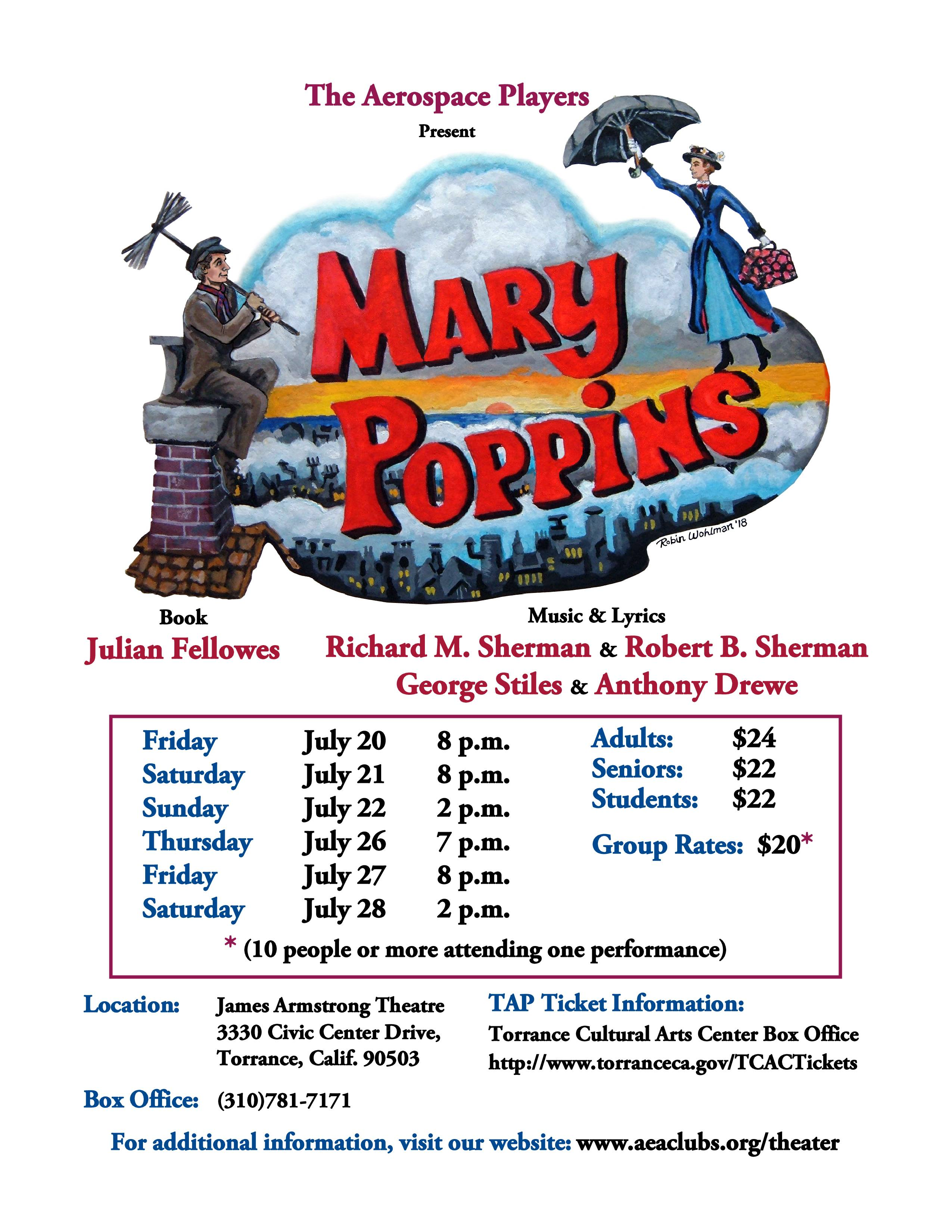 Mary Poppins @ James Armstrong Theatre | Torrance | California | United States