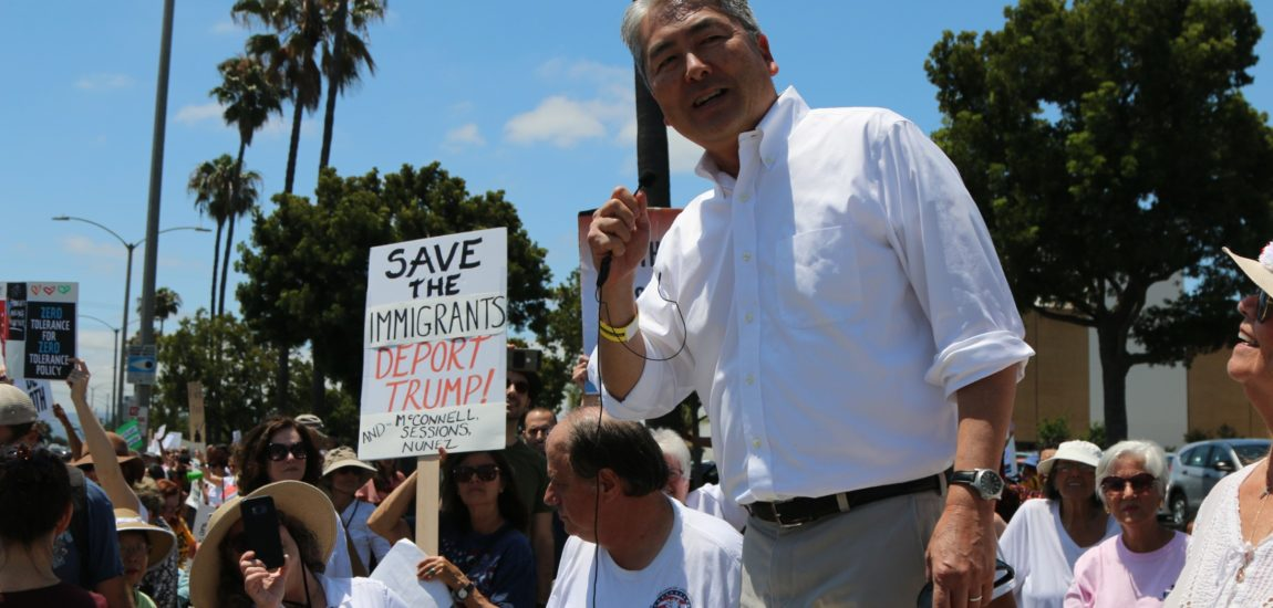 Protesters stand against family separation