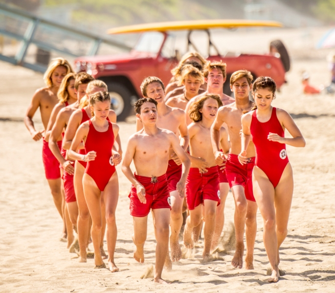 "3fdec2abc7db Local Los Angeles County Junior Lifeguards were cast as junior lifeguards  in ""Coming of Age."" Photo by Michael Hetnal. """