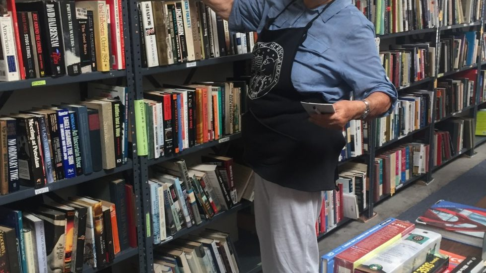 PD barricade blocks access to HB bookstore