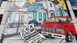 Beach art – Punks churn through history