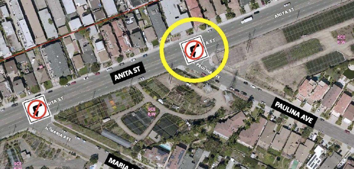 Turn ban to calm Maria/Paulina traffic