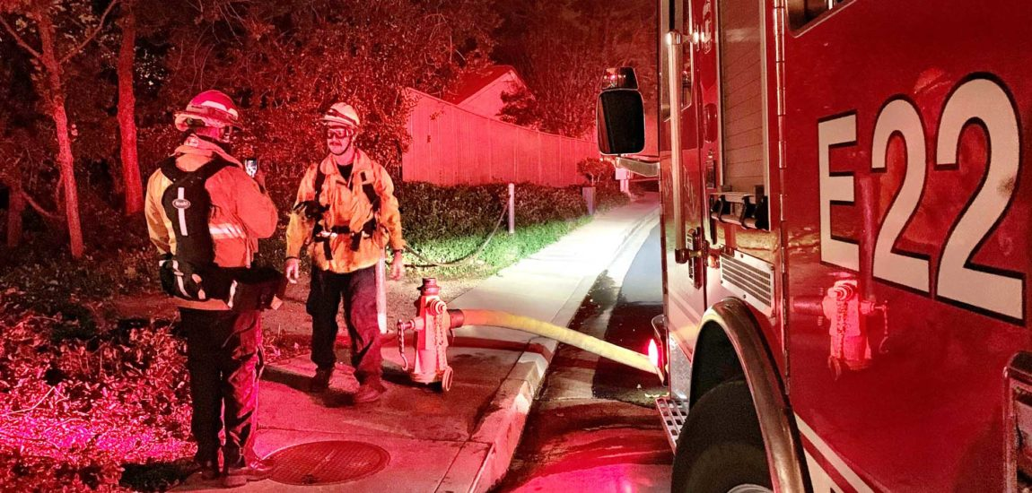 South Bay firefighting crew  battles Woolsey wildfire