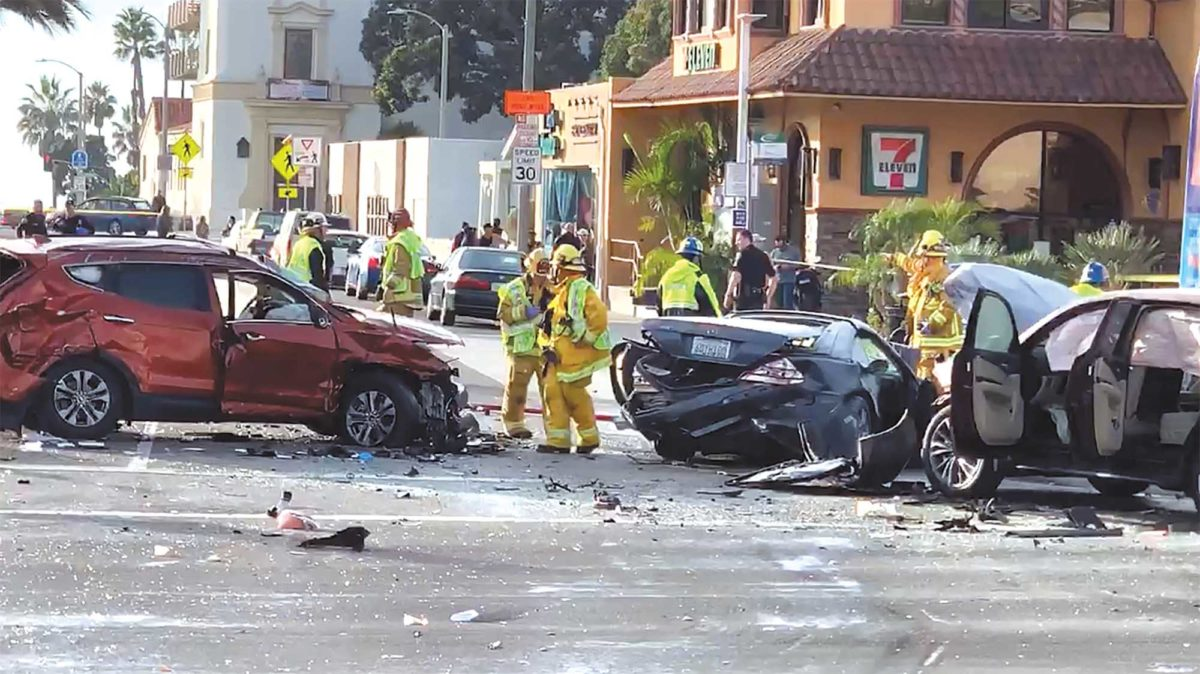 One dead, six injured in PCH crash | Easy Reader News