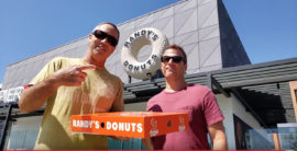 Steve and Brad Visit Randy's Donuts in El Segundo (video)