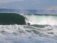 Webber's duel barrel race in South Redondo Beach surf