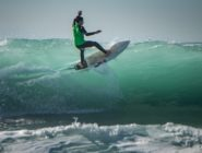 Afternoon session at the SB Boardriders/Jack's Showdown surf in El Porto