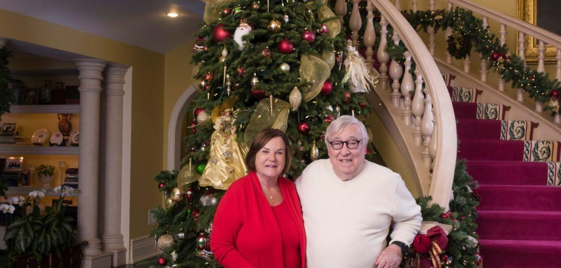 The giving season Peninsula residents Ian and Jan Teague