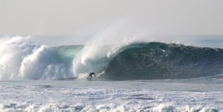 Beach surf  – Winter arrives, Surfers scurry