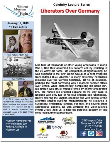 Celebrity Lecture Series Liberators Over Germany @ Western Museum of Flight | Torrance | California | United States