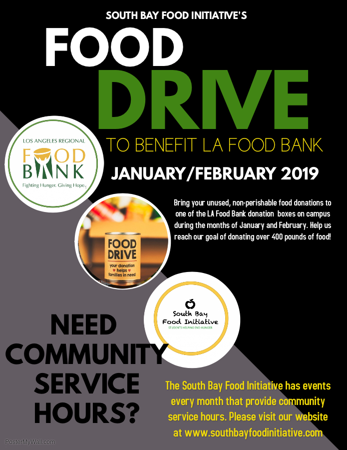 Food Drive to benefit LA Food Bank @ Drop Off at One of the LA Food Bank donation boxes on campus