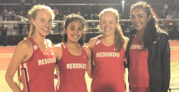 Redondo's girls track team records top 4×800 time in the nation
