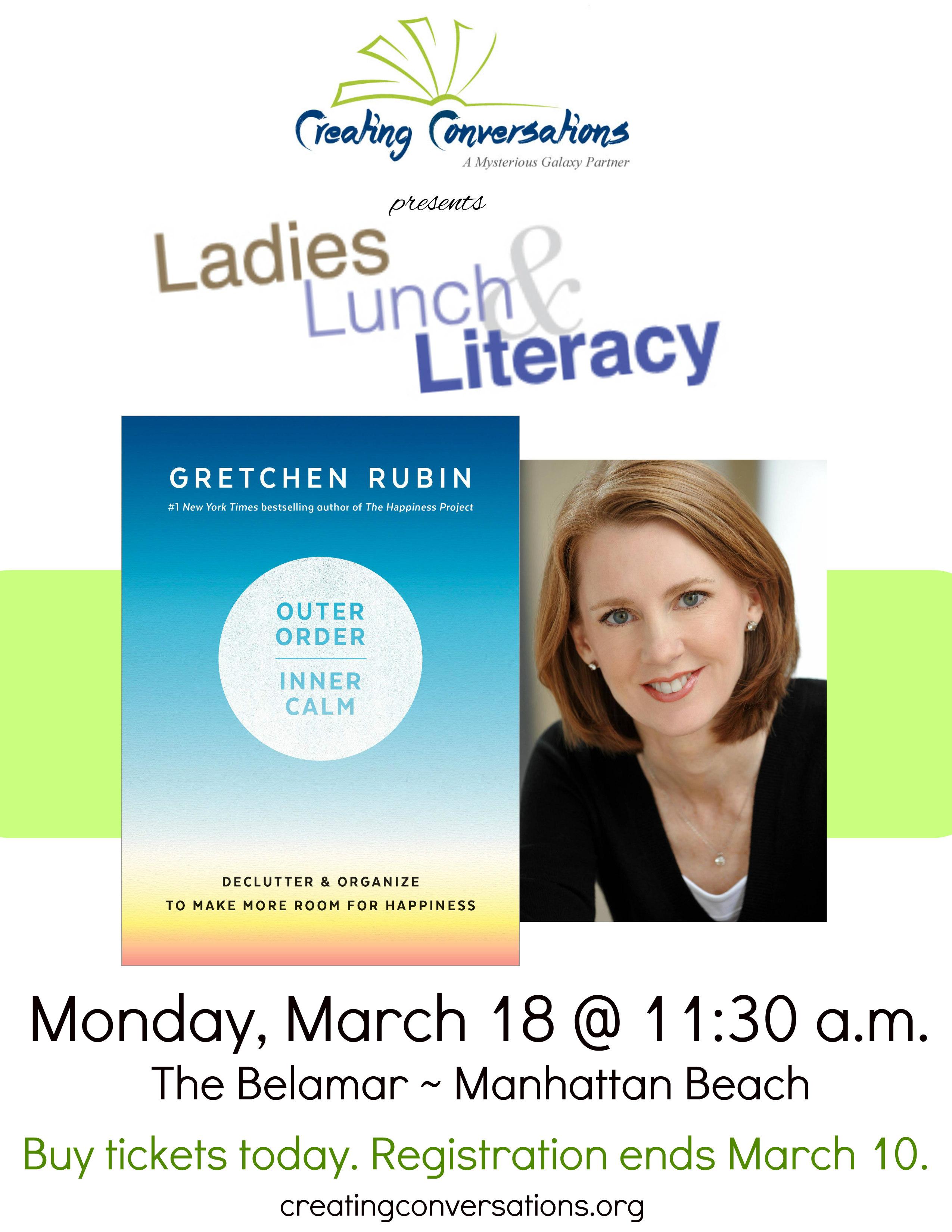 Ladies, Lunch & Literacy Welcomes Gretchen Rubin @ The Belamar Hotel | Manhattan Beach | California | United States