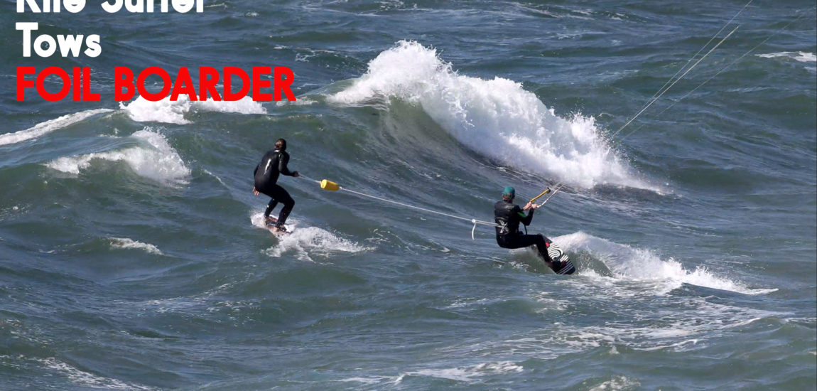 Can a Kite Surfer tow a Foil Boarder? (Video)