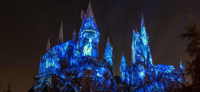 Darkness brewing at Hogwarts Castle