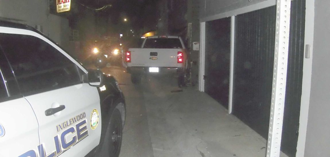 Pursuit ends when truck crashes into duplex garage