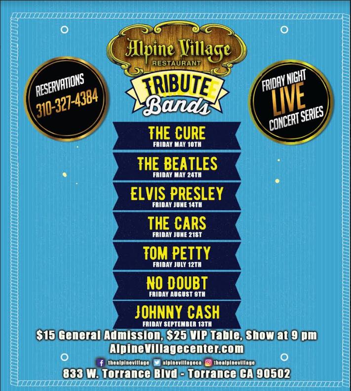 Live Concert Series Tribute Bands @ Alpine Village   Torrance   California   United States