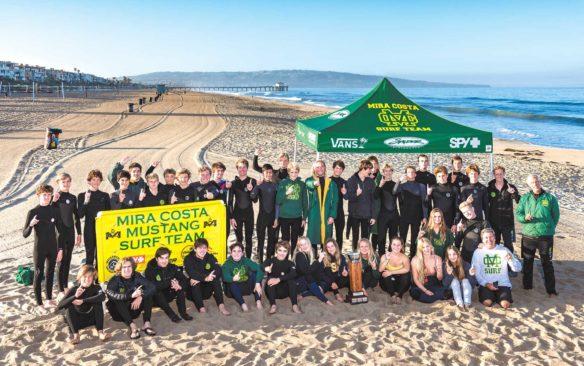 Ten for 10: Depth and dedication help Mira Costa surfers ride a decade-long streak of success