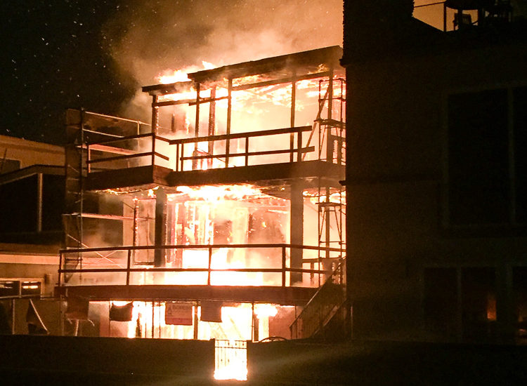 Fire destroys new Hermosa Beach Strand home