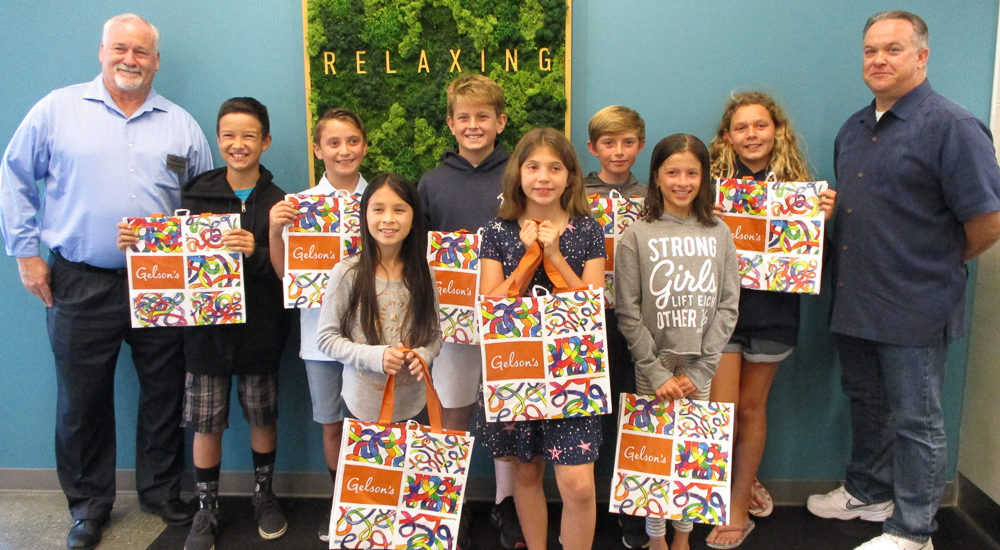 Manhattan Beach fourth graders design Gelsons shopping bag
